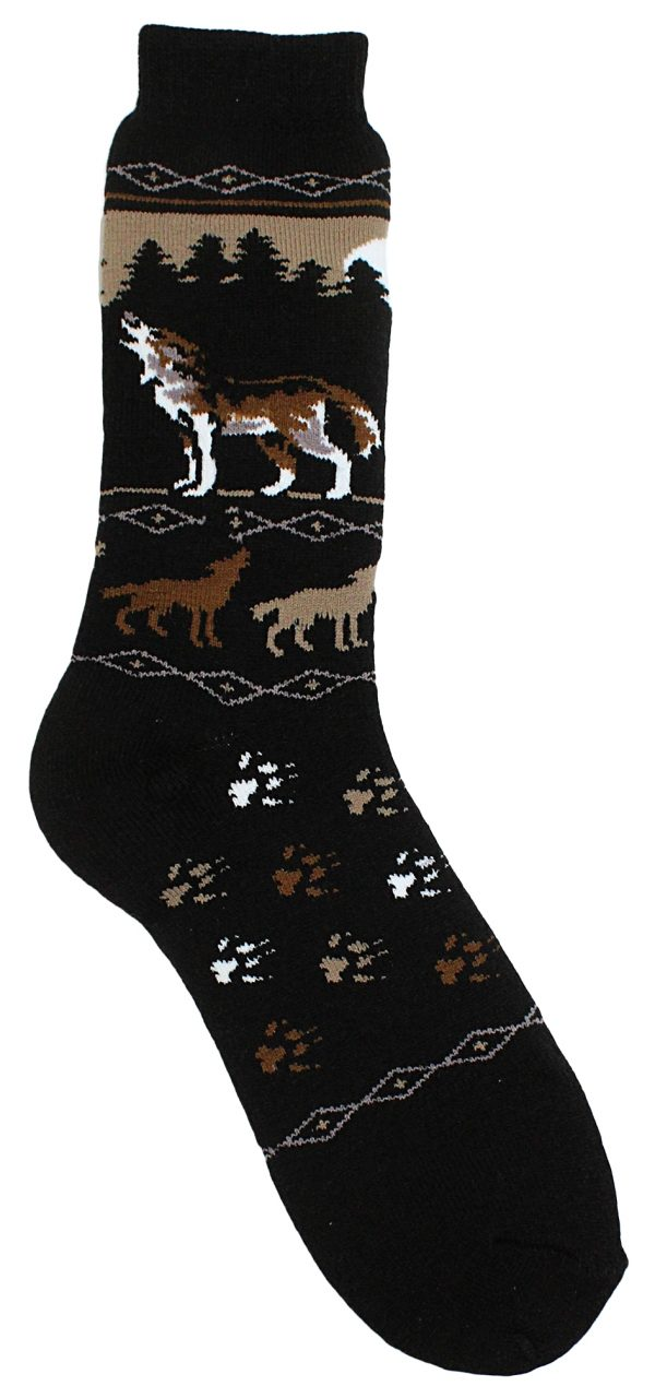 Howling Wolf Towel Socks