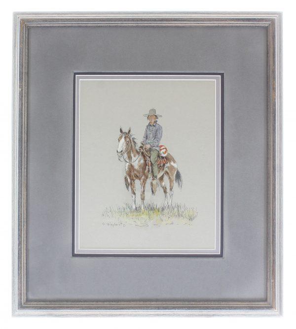 Navajo on Horse