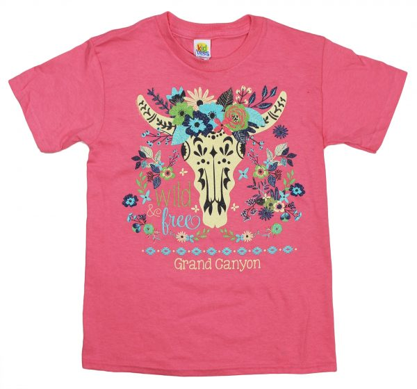 Youth Grand Canyon Longhorn Skull T-shirt