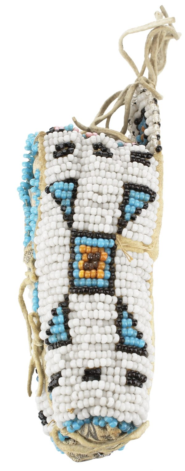 Native American Beaded Toy Cradle