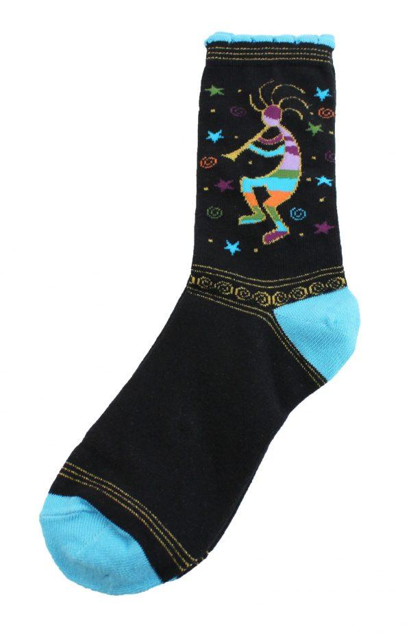 Golden Kokopelli Socks