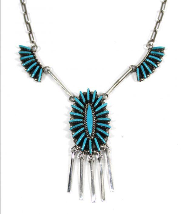 NK3844 - Zuni Needlepoint Necklace