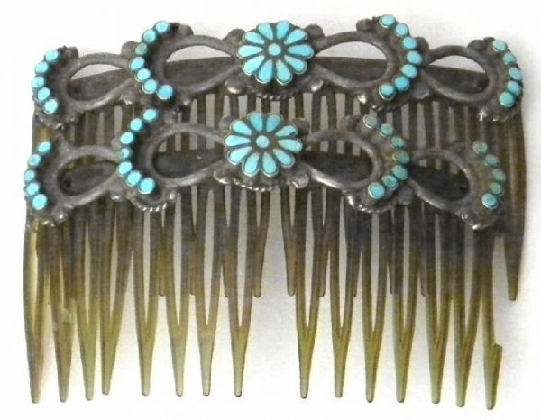 Vintage Zuni Hair Combs-OJ353
