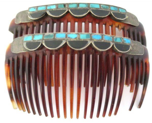 OJ741- Old Pawn Zuni Hair Combs