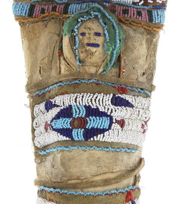 Plateau Beaded Hide Doll Cradle