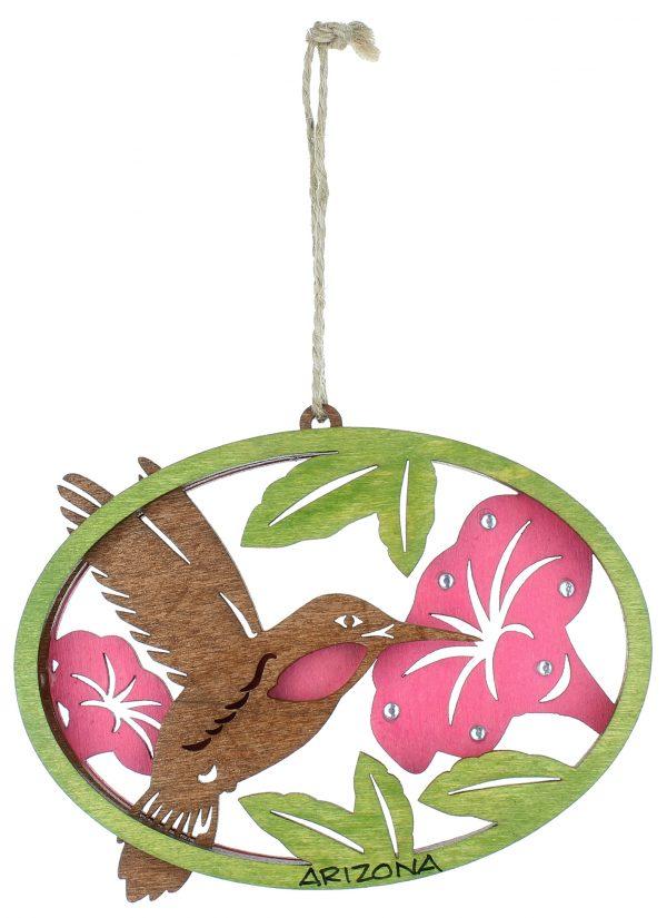 Arizona Wooden Hummingbird Ornament