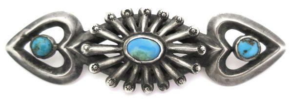 OJ633 - Old Pawn Navajo Sandcast Pin