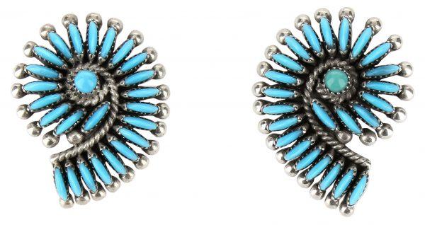 Edith Tsabetsaye Zuni Necklace and Earring Set