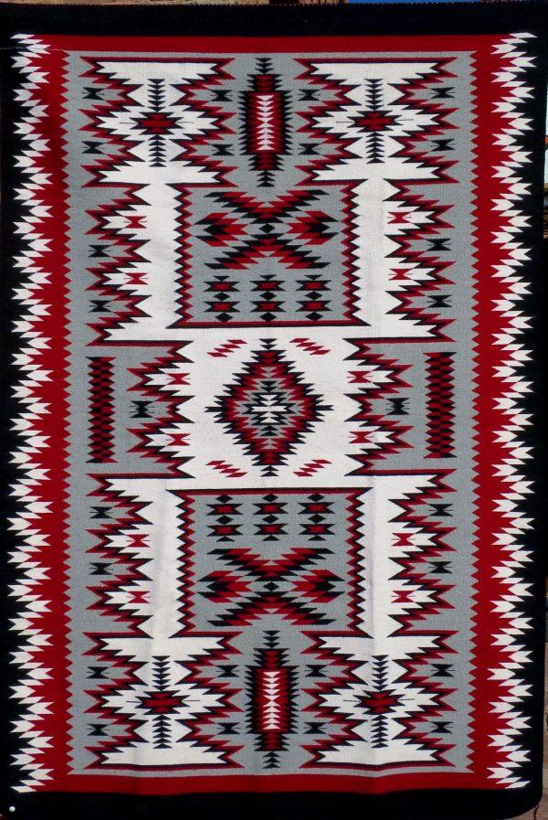 Navajo Handwoven Storm Pattern Rug - R15192;929909