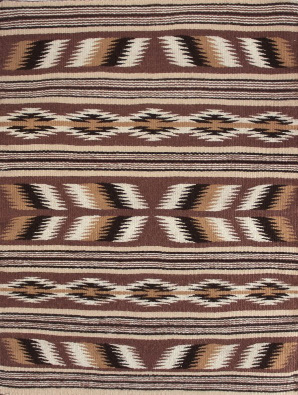 Navajo Handwoven Miniature Wide Ruins Tapestry