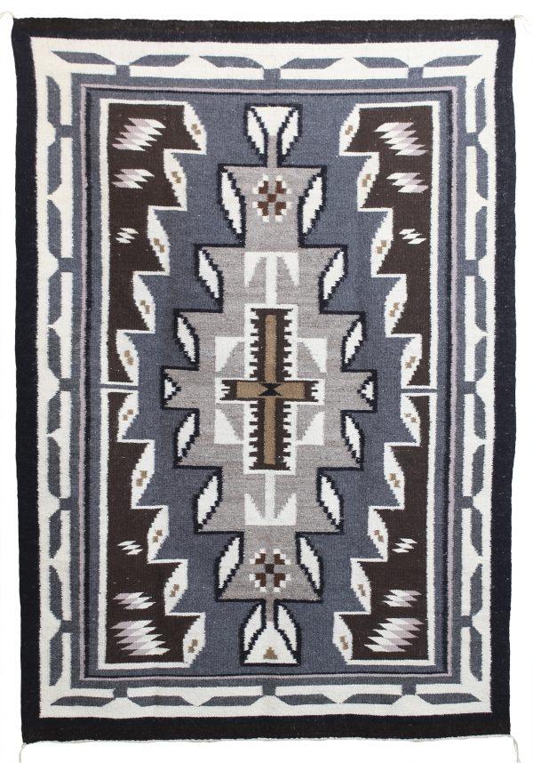 Navajo Woven Two Grey Hills Rug