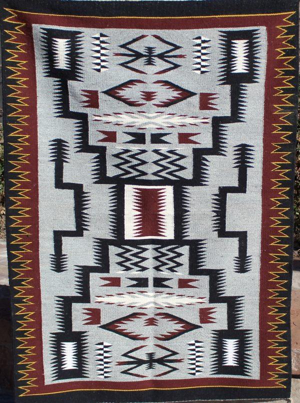 Navajo Handwoven Storm Pattern Rug