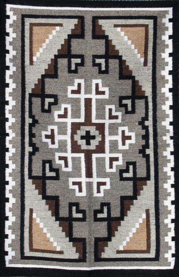 Navajo Handwoven Two Gray Hills Rug