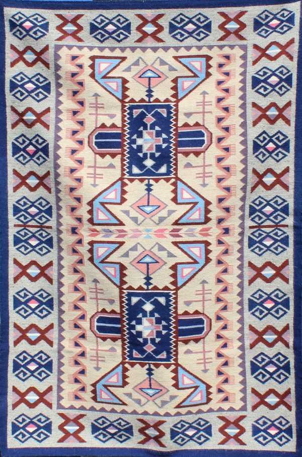 Navajo Handwoven Teec Nos Pos w/ Burntwater Rug