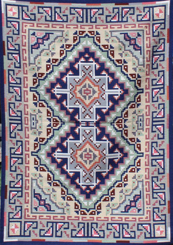 Navajo Handwoven Burntwater Tapestry Rug