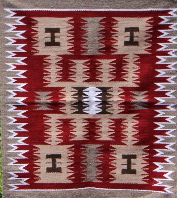 Navajo Handwoven Storm Pattern Rug - R17278;939670