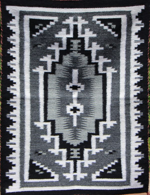 Navajo Handwoven Two Grey Hills Rug - R17280;939695