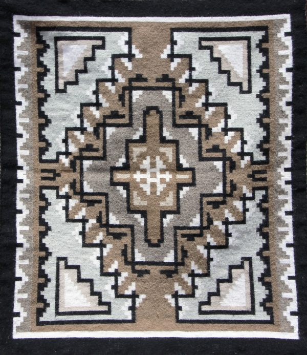 Navajo Handwoven Two Grey Hills Rug
