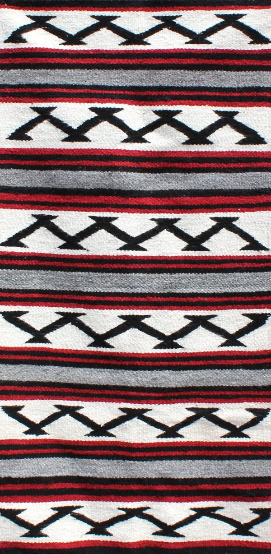 Navajo Handwoven Saddle Blanket - R17349;940383