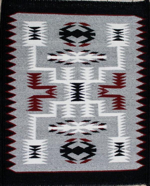 Navajo Handwoven Storm Pattern Rug - R18118;941737