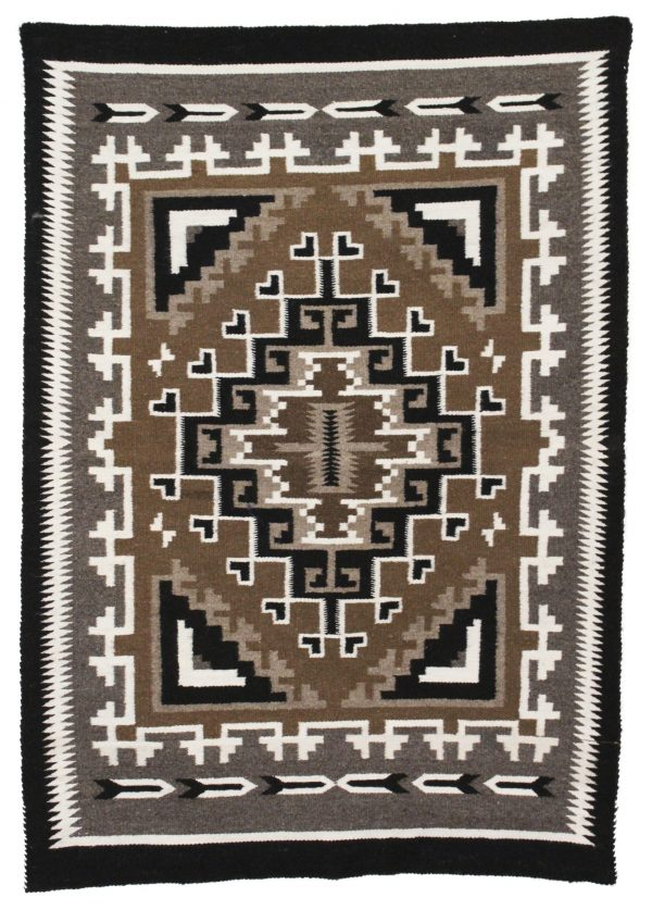Navajo Handwoven Two Grey Hills Rug