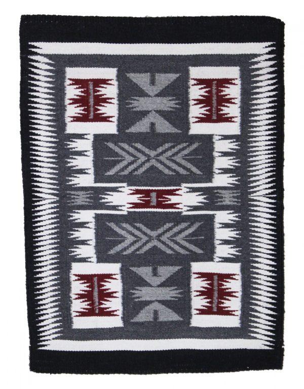 Doris Duncan Navajo Handwoven Storm Pattern Rug