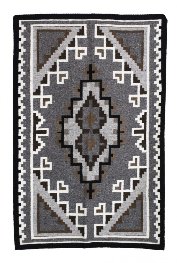 Navajo Handwoven Two Gray Hills Rug