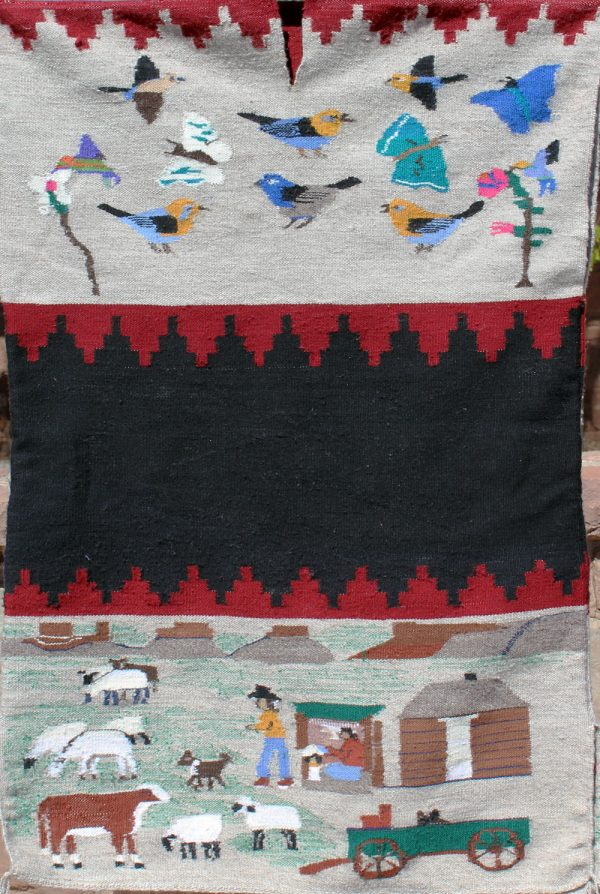 Navajo Handwoven Pictorial Rug Dress