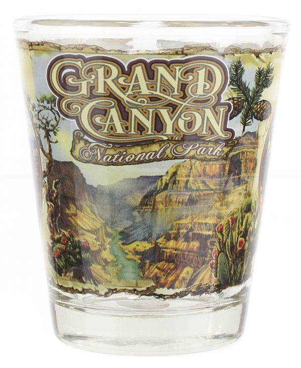 Grand Canyon Animal Scenes Shot Glass