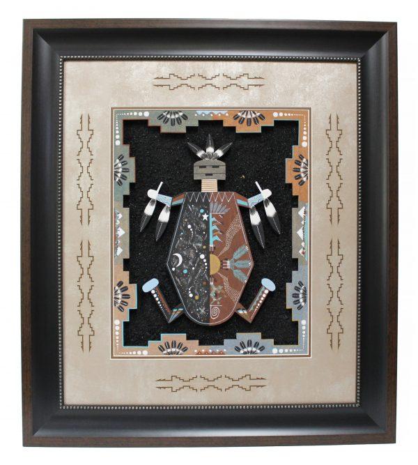 Navajo Handmade Framed Sandpainting