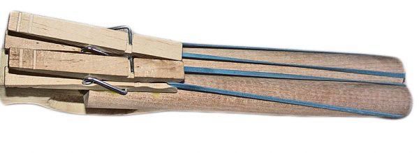 Toy Wooden Double Barrel Gun