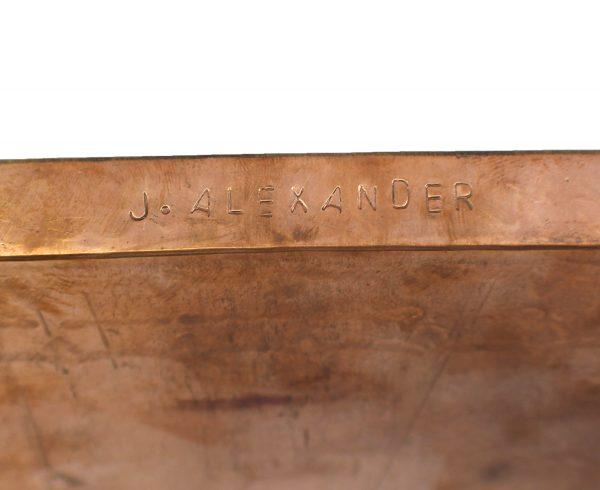 Medium Stamped Copper Tray