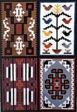 COUNTED CROSS STITCH KIT 4-IN-1 SAMPLER