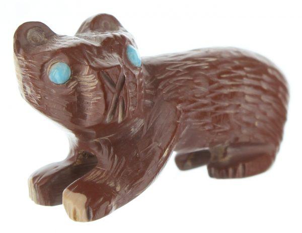 Karen Zunie Zuni Hand Carved Bear Fetish